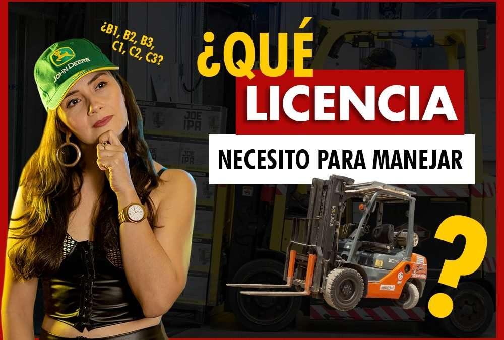 LICENCIA de conducción para MONTACARGAS ¿Necesito licencia para salir a una vía pública?